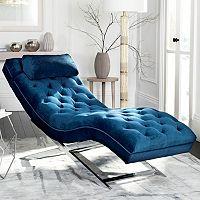 Safavieh Monroe Chaise Lounge Chair & Pillow 2-piece Set