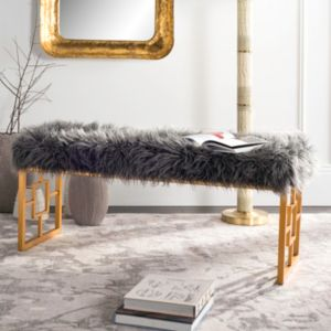 Safavieh Mera Faux Sheepskin Bench