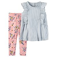 Toddler Girl Carter's Striped Tank Top & Floral Pants Set