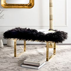 Safavieh Maia Faux Sheepskin Bench