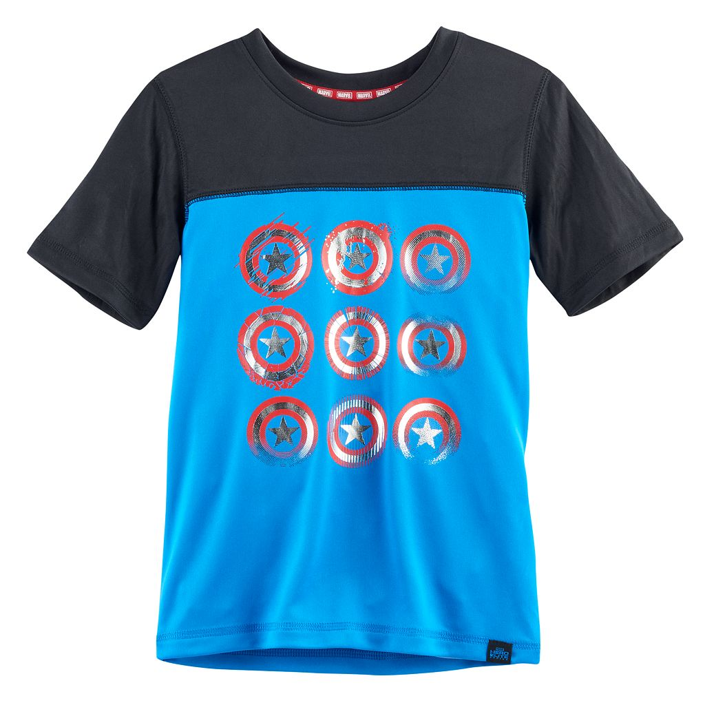 Boys 4-7x Marvel Hero Elite Series Captain America Collection for Kohl's Shields Top