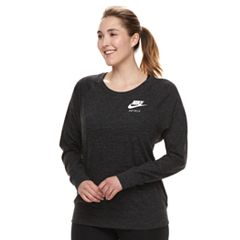 Plus Size Nike Vintage Crewneck Long Sleeve Top