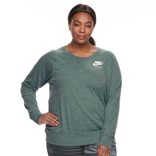 Plus Size Nike Vintage Crewneck Long Sleeve Top