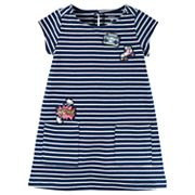 Toddler Girl Carter's Striped Patch Dress