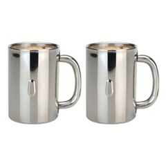 Berghoff Straight 2 pc Stainless Steel Coffee Mug Set