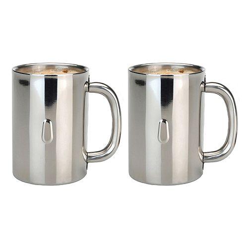 Berghoff Straight 2-pc. Stainless Steel Coffee Mug Set