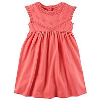 Toddler Girl Carter's Embroidered Babydoll Dress