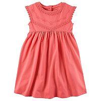 Toddler Girl Carter's Embroidered Babydoll Dress