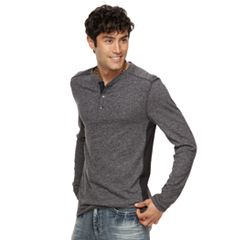 Men's Rock & Republic Pieced Henley Top
