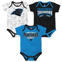 Baby Carolina Panthers Playmaker 3-Pack Bodysuit Set