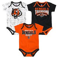 Baby Cincinnati Bengals Playmaker 3-Pack Bodysuit Set