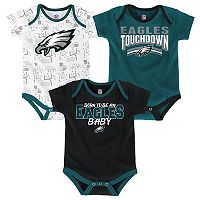 Baby Philadelphia Eagles Playmaker 3-Pack Bodysuit Set