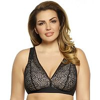 Paramour by Felina Bras: Carolina Full-Figure Unlined Wire Free Triangle Bra 175011