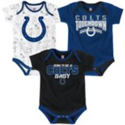 Baby Indianapolis Colts Playmaker 3-Pack Bodysuit Set