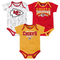 Baby Kansas City Chiefs Playmaker 3-Pack Bodysuit Set