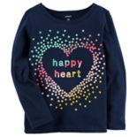 "Toddler Girl Carter's ""Happy Heart"" Glitter Graphic Tee"