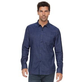 Men's Marc Anthony Slim-Fit Soft-Touch Flannel Button-Down Shirt