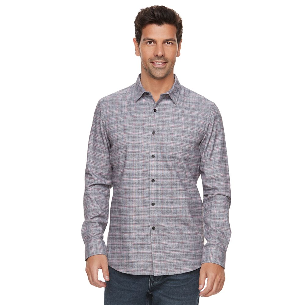 Marc Anthony Slim-Fit Soft-Touch Flannel Button-Down Shirt