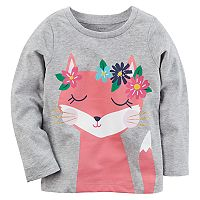 Toddler Girl Carter's Floral Fox Graphic Tee