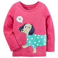 Toddler Girl Carter's Glitter Dog Graphic Tee