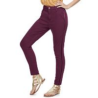 Juniors' SO® Velvet Stripe Skinny Pants