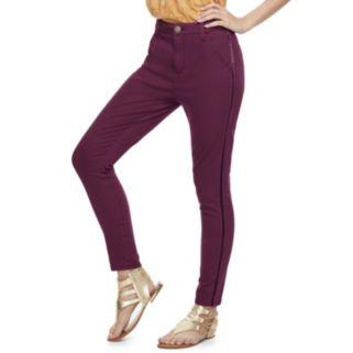 Juniors' SO® Velvet Stripe Skinny Pants