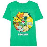 Boys 4-7 Pokemon Pikachu, Charmander & Bulbasaur Wheel Graphic Tee