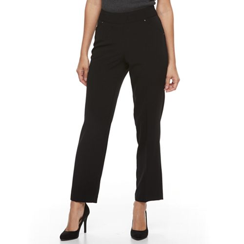Petite Napa Valley Pull On Straight-Leg Pants