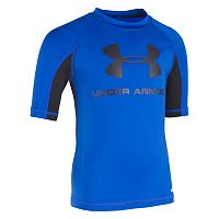 Boys 4-7 Under Armour Short Sleeve Logo Rashguard