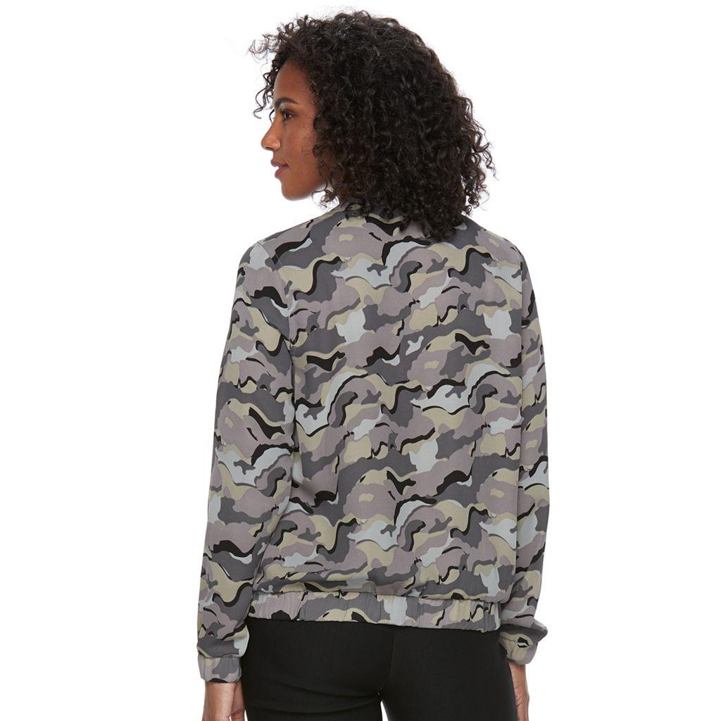 Women's Harve Benard Camouflage Bomber Jacket