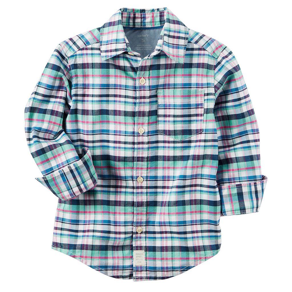 Boys 4-8 Carter's Button-Down Shirt