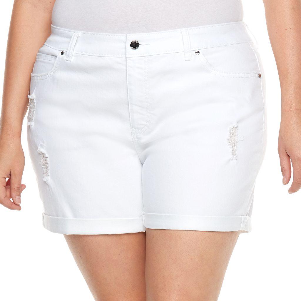 Plus Size Jennifer Lopez Boyfriend Jean Shorts