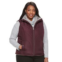 Plus Size KC Collections Quilted Reversible Vest