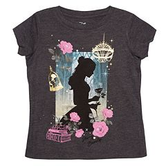 Disney's Beauty & The Beast Girls 4-6x Belle Shadow Graphic Tee