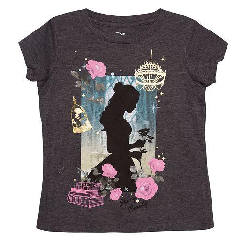 Disney's Beauty & The Beast Girls 4-6x Belle Shadow Graphic Tee