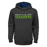 Boys 8-20 Seattle Seahawks Charcoal Performance Hoodie