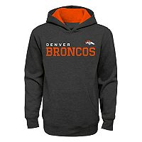 Boys 8-20 Denver Broncos Charcoal Performance Hoodie