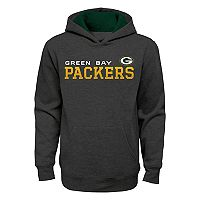 Boys 8-20 Green Bay Packers Charcoal Performance Hoodie