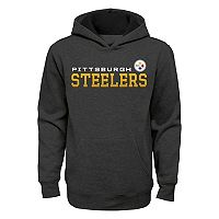 Boys 8-20 Pittsburgh Steelers Charcoal Performance Hoodie