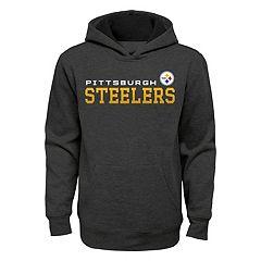 Boys 8-20 Pittsburgh Steelers Charcoal Performance Hoodie
