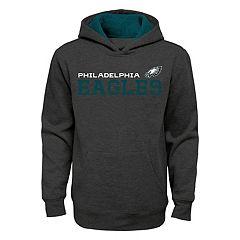 Boys 8-20 Philadelphia Eagles Charcoal Performance Hoodie