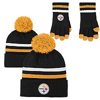 Boys 8-20 Pittsburgh Steelers Beanie & Gloves Set