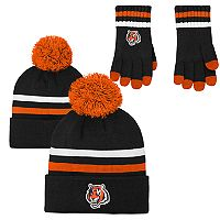 Boys 8-20 Cincinnati Bengals Beanie & Gloves Set