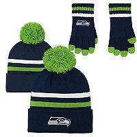 Boys 8-20 Seattle Seahawks Beanie & Gloves Set