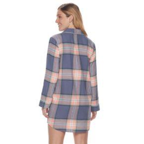 Women's SONOMA Goods for Life™ Pajamas: Button Down Flannel Sleep Shirt