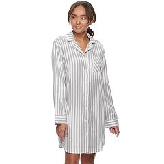 Women's SONOMA Goods for Life™ Pajamas: Button Down Flannel Sleep Shirt