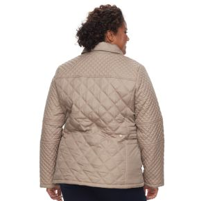Plus Size KC Collections Lined Quilted Jacket