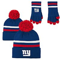 Boys 8-20 New York Giants Beanie & Gloves Set