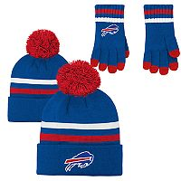 Boys 8-20 Buffalo Bills Beanie & Gloves Set
