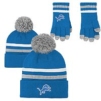 Boys 8-20 Detroit Lions Beanie & Gloves Set